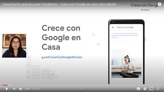 Capacitación de Google para estudiantes